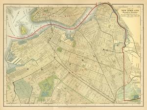 Brooklyn Map by Gwendolyn Babbitt