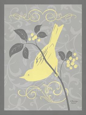 Grey & Yellow Bird I by Gwendolyn Babbitt