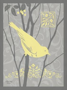 Grey & Yellow Bird II by Gwendolyn Babbitt