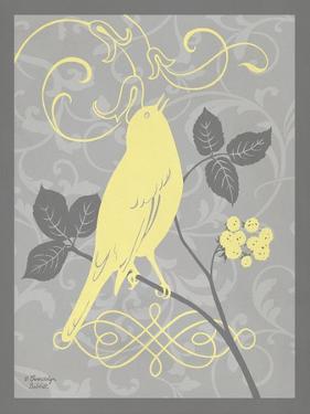 Grey & Yellow Bird III by Gwendolyn Babbitt
