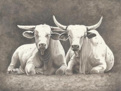 Two White Bulls