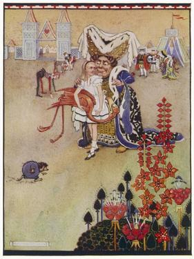Alice with the Duchess at the Croquet Match by Gwynedd M. Hudson
