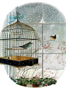 """Birdtalk,"" January 6, 1962 by Gyo Fujikawa"
