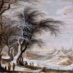 Paysage d'hiver by Gysbrecht Lytens