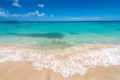 Beautiul Sandy Beach with Turqoise Se Water and Blue Sky by Gyula Gyukli