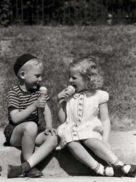 Eating Ice Cream by H. Armstrong Roberts