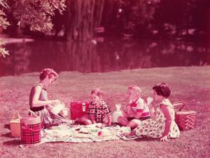 Family Having Picnic by H. Armstrong Roberts