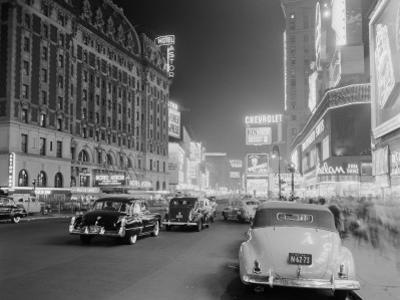 Times Square and Broadway at Night, New York City by H. Armstrong Roberts