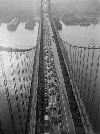 Traffic on Delaware River Bridge, Connecting Philadelphia and Camden, New Jersey by H. Armstrong Roberts