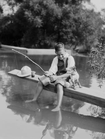 Young Boy Fishing by H. Armstrong Roberts
