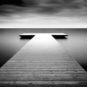 Idyllic Lake Jetty by H. Biebel