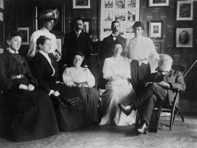 Opening of Julia's Bureau, with W T Stead and Staff