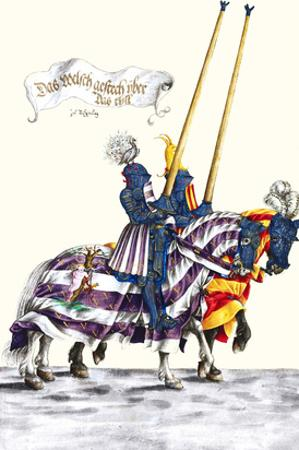 German Knights in Horseback in Procession by H. Burkmair