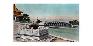 Painting of a Bronze Cow Statue Serving as Protection from Floods by H. C. and J. H. and Deng White and Bao-Ling