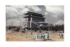Painting of a Building That Serves as the Main Gate of Peiping by H. C. and J. H. and Deng White and Bao-Ling