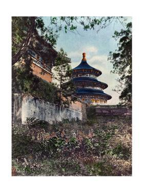 Painting of the Temple of the Happy Year or Temple of Heaven by H. C. and J. H. and Hwang White and Yao-Tso