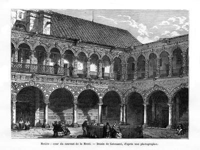 Court of the Convent of Mercy, Mexico, 19th Century