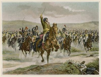 Battle of Jena Murat Leads the French Cavalry to Victory Against the Prussians by H. Chartier
