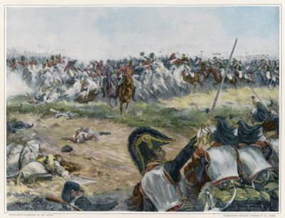 Battle of Waterloo Opposing Cavalry About to Meet by H. Chartier