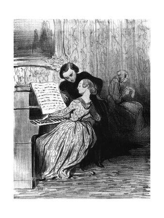 Piano Student Performs, C.1860