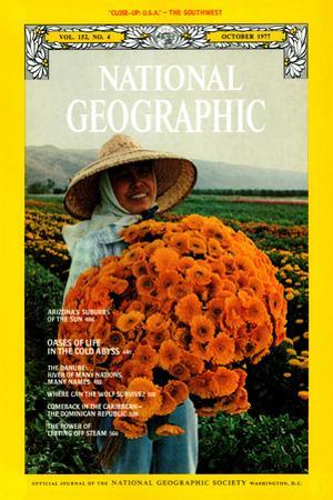 Cover of the October, 1977 National Geographic Magazine by H. Edward Kim