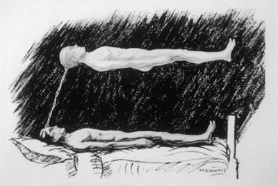 The Out-Of-Body Experience Figure 2 of 5 the Astral Body Lying in the Air Above the Physical Body by H.g. Watts