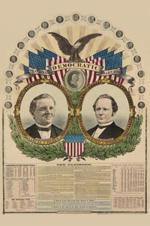 National Democratic Chart 1876: Samuel J. Tilden, President, Thomas A. Hendricks, Vice President
