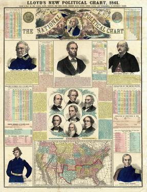 The National Political Chart, Civil War, c.1861 by H. H. Lloyd