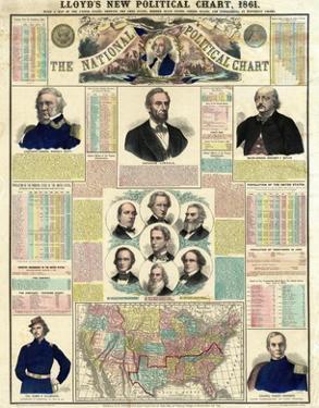 The National Political Chart, Civil War, c.1861 by H^ H^ Lloyd