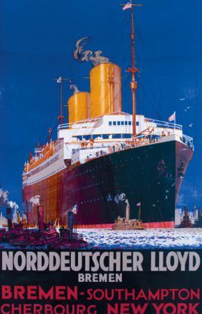 Norddeutscher Llyod Bremen by H.h. Rodmel