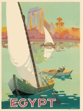 Egypt The Nile River c.1930s by H^ Hashim