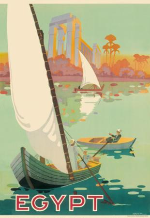 Egypt The Nile River c.1930s by H. Hashim