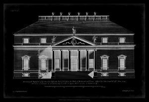 Vintage Facade Blueprint II by H. Hulsburgh