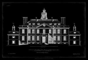 Vintage Facade Blueprint III by H. Hulsburgh