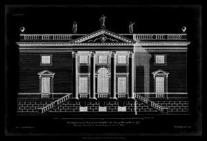 Vintage Facade Blueprint V by H. Hulsburgh