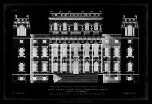 Vintage Facade Blueprint VI by H. Hulsburgh