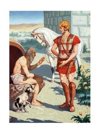 Alexander the Great Talks to the Philosopher Diogenes, the Cynic by H.M. Herget