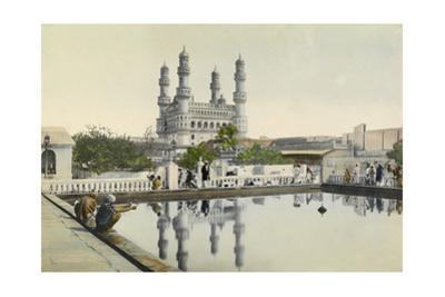 Locals Admire the Reflection of Minarets in a Baptismal Pool by H.M. Herget