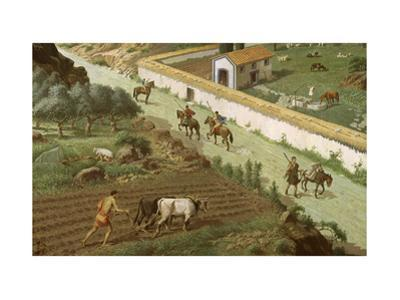 Scene of Rural Life on an Ancient Tunisian Farm by H.M. Herget