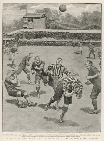Cup Final Aston Villa Win Against West Bromwich Albion at the Crystal Palace. Final Score 1-0 by H.m. Paget