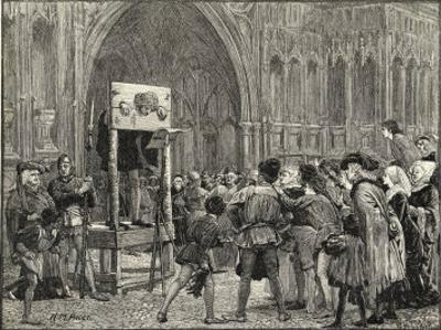Perkin Warbeck Claimant to the English Crown is Placed in the Pillory on the Orders of Henry VII by H.m. Paget