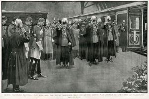 Queen Victoria's Coffin at Paddington Station by H.m. Paget