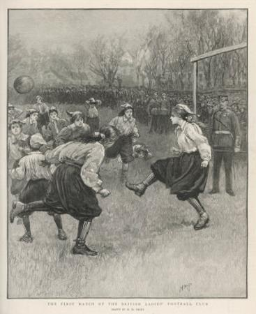 The First Match of the British Ladies' Football Club by H.m. Paget