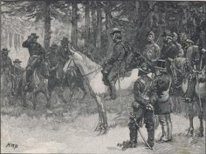 The Meeting of Lee and Grant at Appomattox Court-House Ending the War Between the States by H.m. Paget