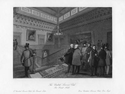 The Great Hall, the United Service Club, London, 19th Century