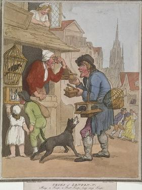 Buy a Trap, a Rat Trap, Buy My Trap, Plate I of Cries of London, 1799 by H Merke