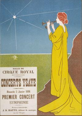 Poster for a Classical Music Concert Starring the Belgian Violinist and Composer Eugene Ysaye by H. Meunier