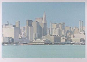 NY Skyline from the City Scapes Portfolio by H.N. Han