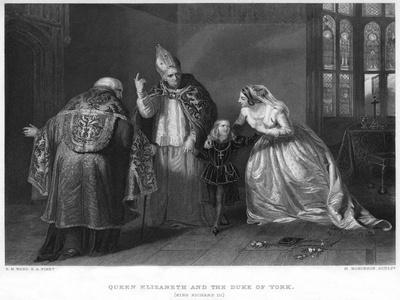 Queen Elizabeth and the Duke of York (King Richard II)