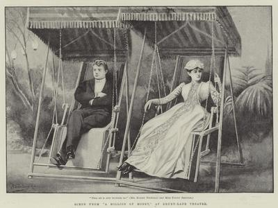 Scene from A Million of Money, at Drury-Lane Theatre